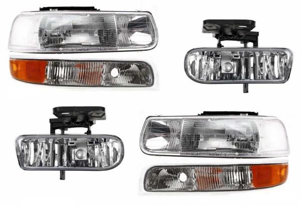 00-06 Suburban Pickup Headlight & Side Marker Light & Fog Lamp 6Pc Set - Part # KAPCV526683LR