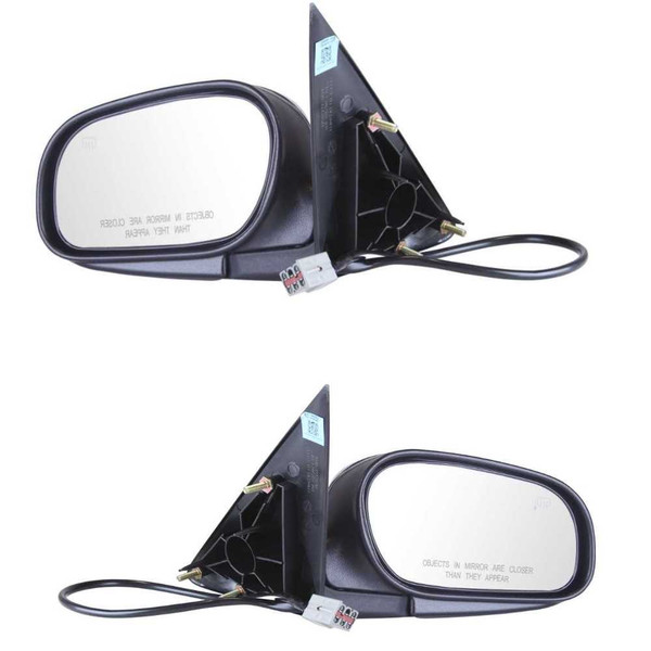 Front Left & Right Pair (2) Power Heated Side View Mirrors Power Heated - Part # KAPFO1320214PR