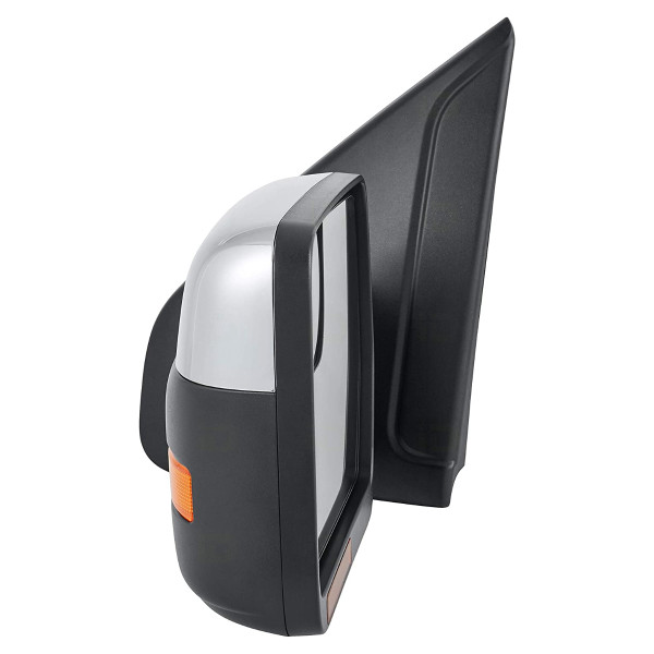 Side Mirror Driver Left Power Heated Chrome Signal Puddle Lamp - Part # KAPFO1320412