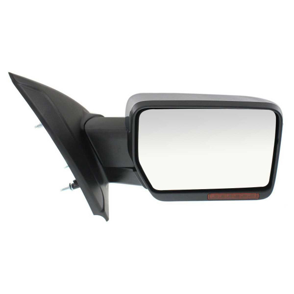 Passenger Right Power Heated Chrome Signal Puddle Lamp Side View Mirror - Part # KAPFO1321412