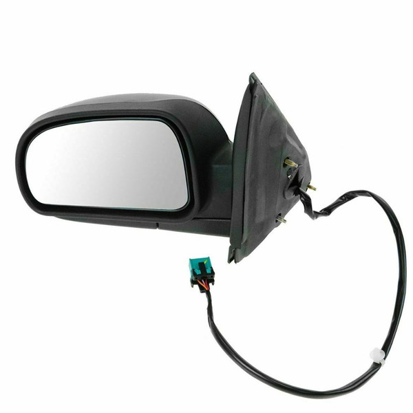 Black Power Heated Signal Driver Left Folding Side Mirror for 02-09 GMC Envoy - Part # KAPGM1320265