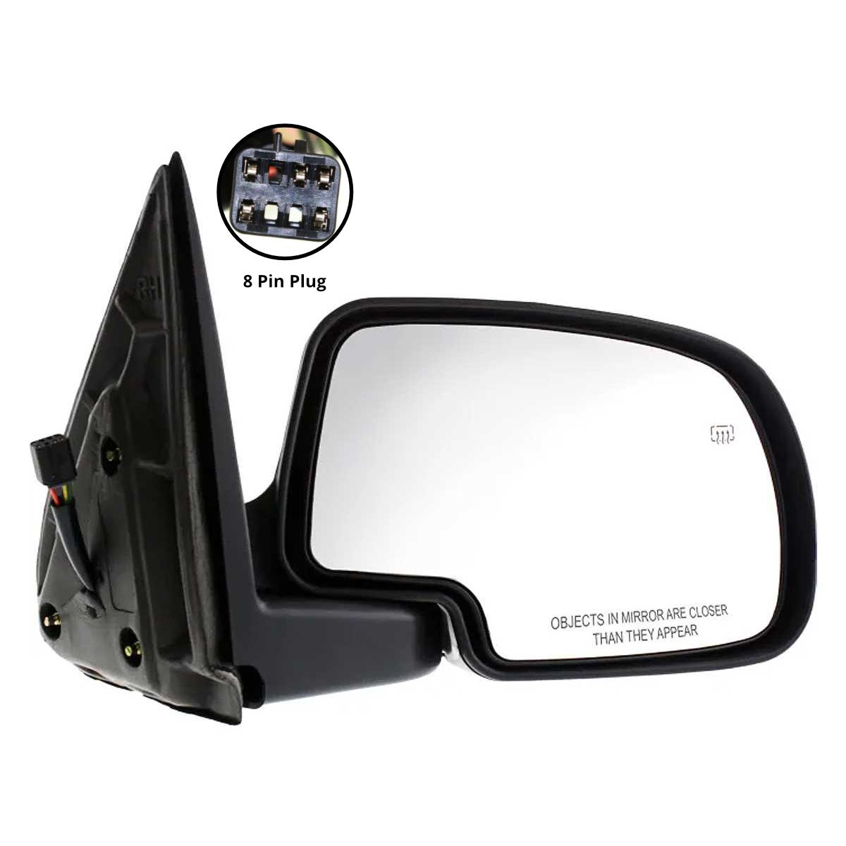 Prime Choice Auto Parts KAPTO1321243 Power Heated Signal Towing Passenger Right Side Mirror