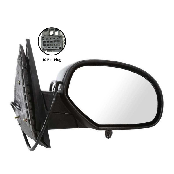 Passenger Right Power Heated Side View Mirror 10 Hole Connector - Part # KAPGM1321336