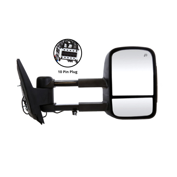 Side Mirror Passenger Right Power Heated Towing LED Signal - Part # KAPGM1321354SSS