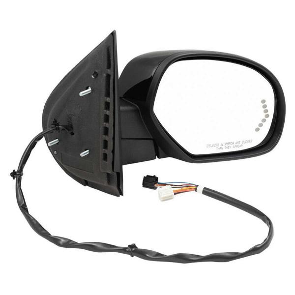 Passenger Right Black Power Heated Power Folding Side View Mirror - Part # KAPGM1321377