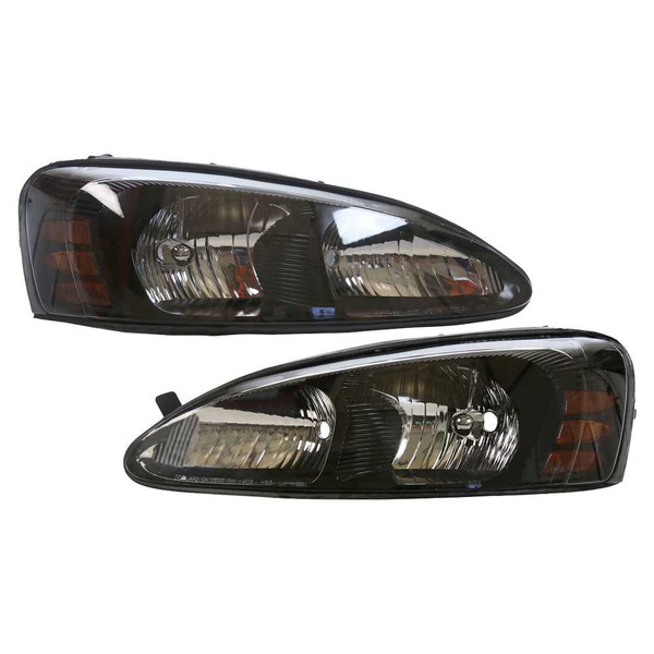 Pair Pontiac Grand Prix Headlight Headlamp Assembly Units Front Set - Part # KAPPT10085A1PR