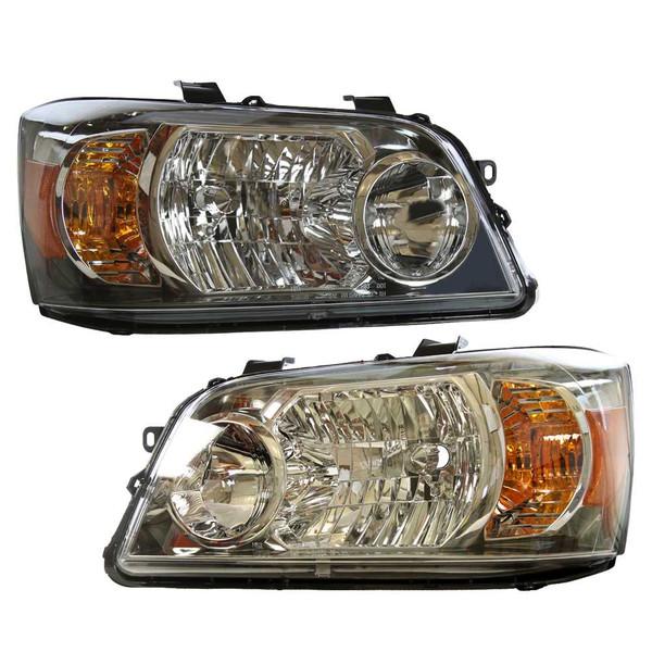 [Set] Headlights & Black Park Lights & Signal Lights Lh Rh 6Pc Set - Part # KAPTY10099A1PR