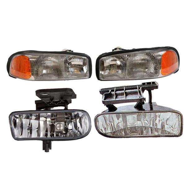 [4Pc Set] 2 Headlights 2 Foglights - Part # LIGHTPKG0018