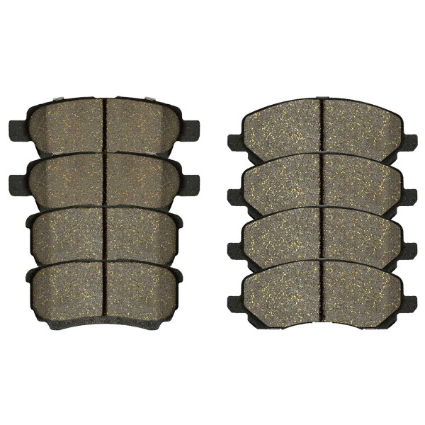 Front and Rear Performance Ceramic Brake Pad Bundle 4 Wheel Disc - Part # PCD1037-866