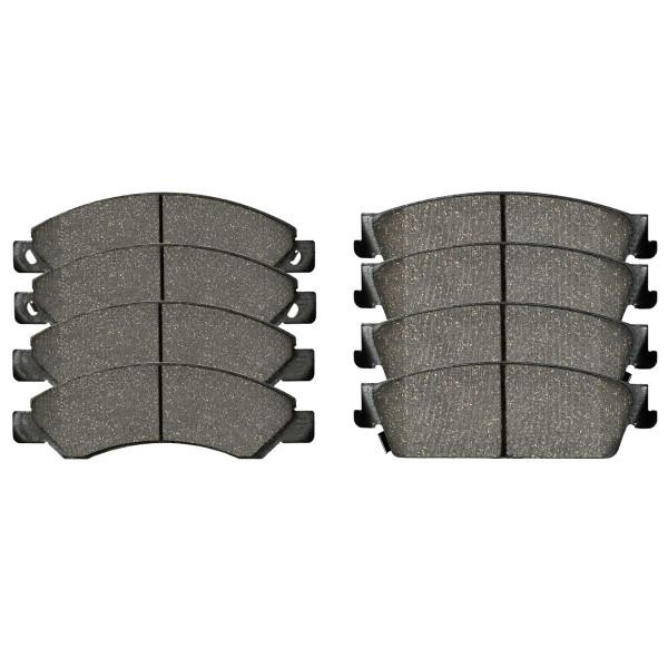 Front and Rear Performance Ceramic Brake Pad Bundle 4 Wheel Disc - Part # PCD1092-1194