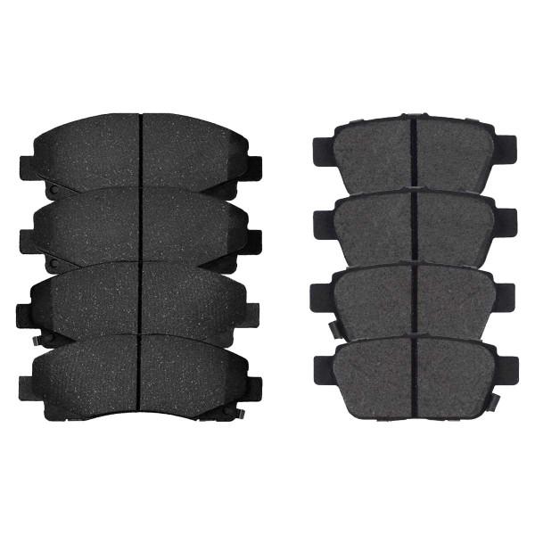Front and Rear Performance Ceramic Brake Pad Bundle - Part # PCD1102-1103