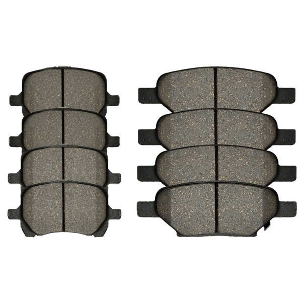 Front and Rear Performance Ceramic Brake Pad Bundle 4 Wheel Disc - Part # PCD1160-1033