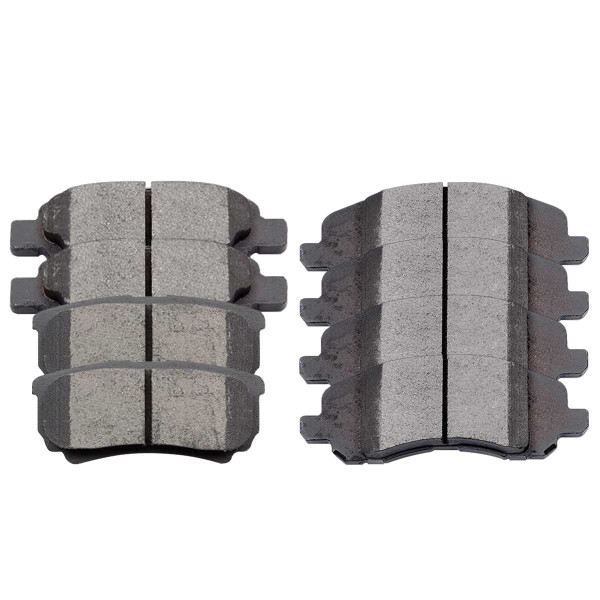 Front and Rear Performance Ceramic Brake Pad Bundle 4 Wheel Disc - Part # PCD1285-1037
