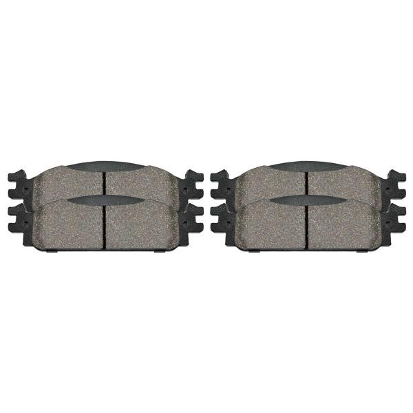 Front Performance Ceramic Brake Pad Set - Part # PCD1376