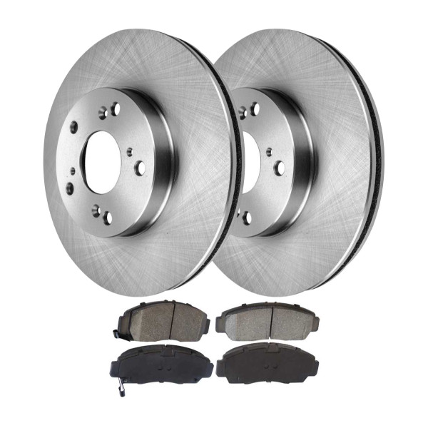 Front Set of Brake Rotors and Performance Pads - Part # PCD787-R41259PR