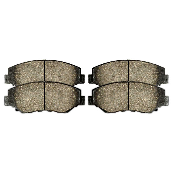 Front and Rear Performance Ceramic Brake Pad Bundle 4 Wheel Disc - Part # PCD914-537
