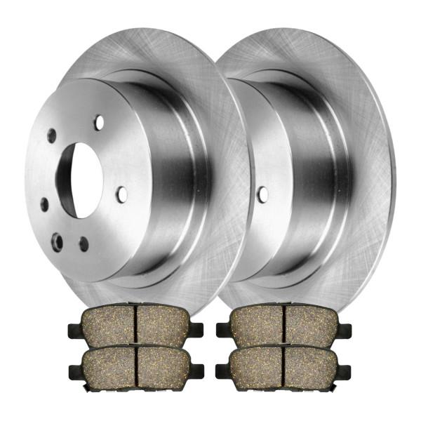 [Set] 2 Brake Rotors & 1 Set Performance Ceramic Brake Pads - Part # PCDR4131441314905