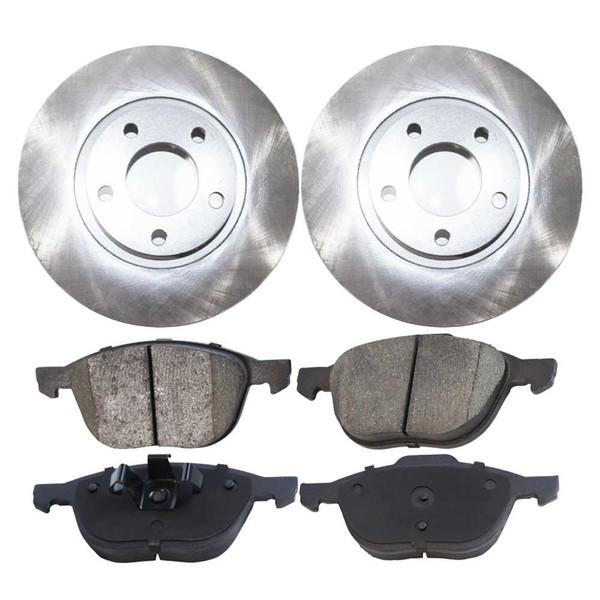 [Set] 2 Brake Rotors & 1 Set Performance Ceramic Brake Pads - Part # PCDR41365413651044