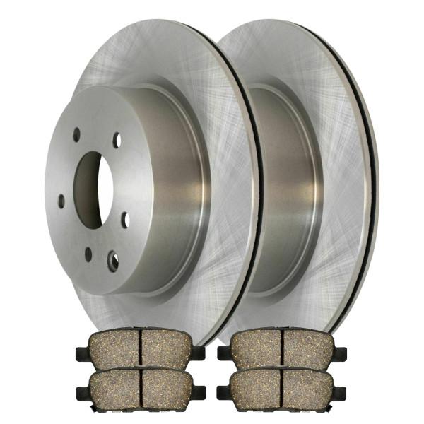 [Set] 2 Brake Rotors & 1 Set Performance Ceramic Brake Pads - Part # PCDR4138941389905