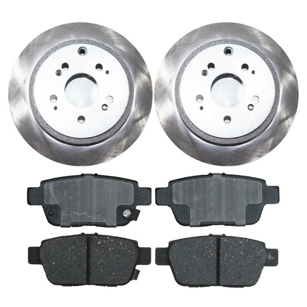 Kit Disc Rotors Pair + Performance Ceramic Brake Pads Set - Part # PCDR41400414001103