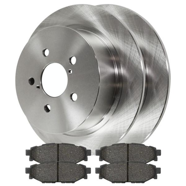 [Set] 2 Brake Rotors & 1 Set Performance Ceramic Brake Pads - Part # PCDR41405414051114