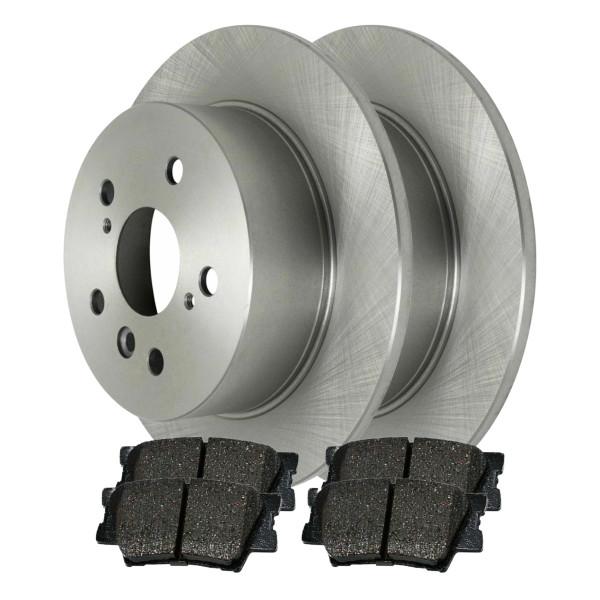 [Set] 2 Brake Rotors & 1 Set Performance Ceramic Brake Pads - Part # PCDR41435414351212