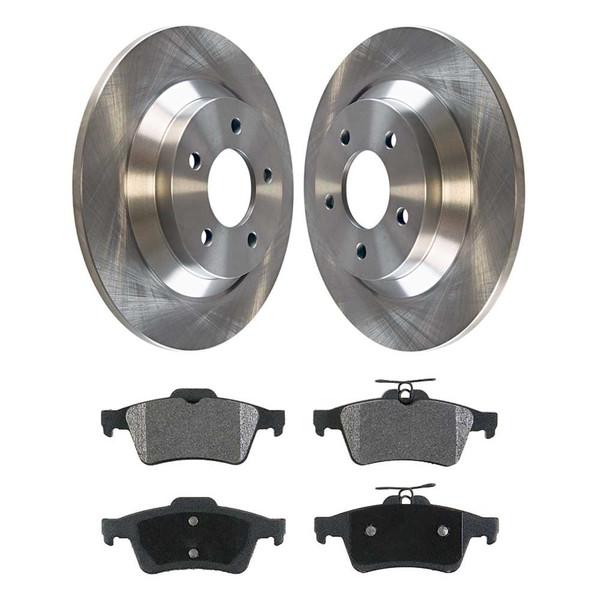 [Set] 2 Brake Rotors & 1 Set Performance Ceramic Brake Pads - Part # PCDR41437414371095