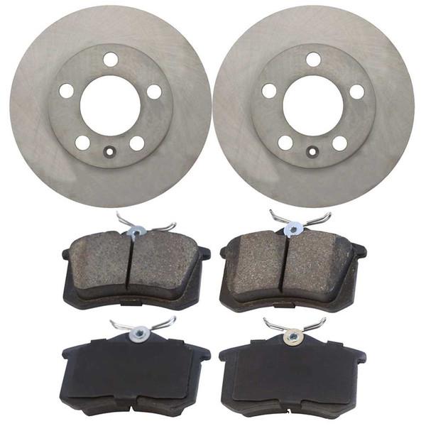 [Rear Set] 2 Brake Rotors & 1 Set Ceramic Brake Pads - Part # PCDR4414644146340