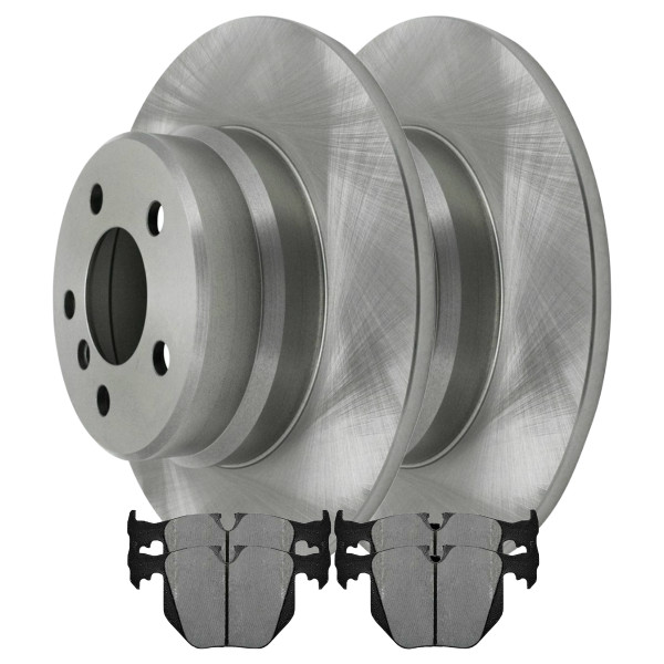 Kit Disc Rotors Pair + Performance Ceramic Brake Pads Set - Part # PCDR4418244182683