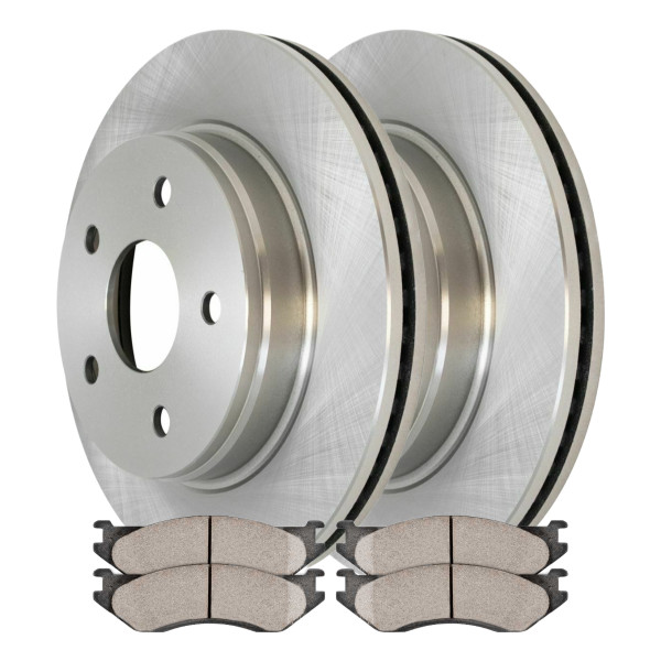 [Set] 2 Brake Rotors & 1 Set Performance Ceramic Brake Pads - Part # PCDR6300763007966