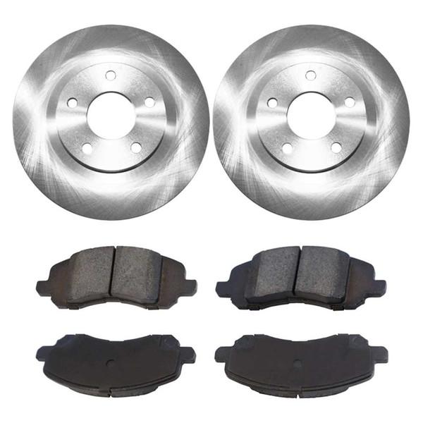 [Set] 2 Brake Rotors & 1 Set Performance Ceramic Brake Pads - Part # PCDR63040630401285