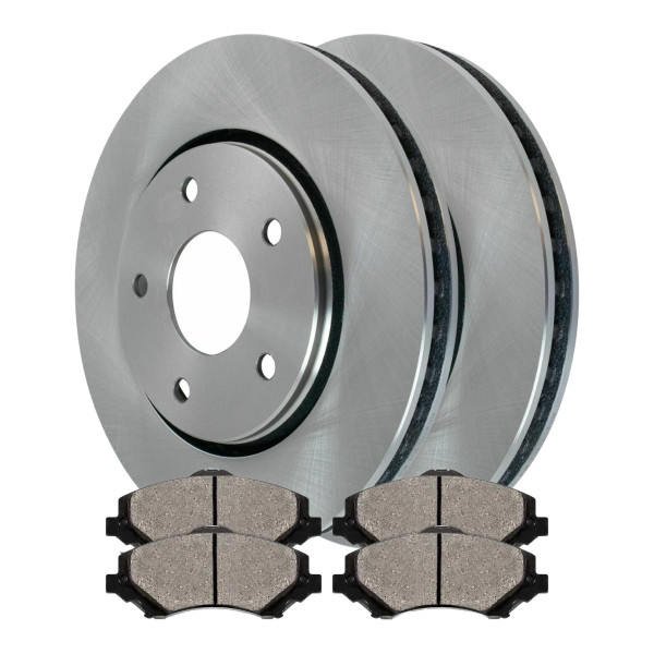 [Set] 2 Brake Rotors & 1 Set Performance Ceramic Brake Pads - Part # PCDR63053630531273