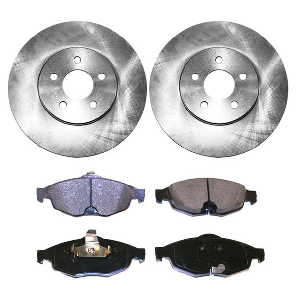 [Set] 2 Brake Rotors & 1 Set Performance Ceramic Brake Pads - Part # PCDR63836383869