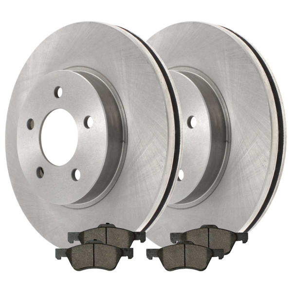 [Front Set] Performance Ceramic Brake Pads & Brake Rotors - Part # PCDR64125641251047