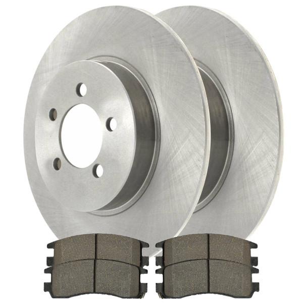 [Set] 2 Brake Rotors & 1 Set Performance Ceramic Brake Pads - Part # PCDR6504165041698