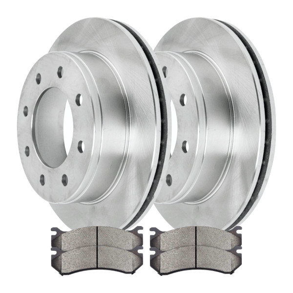[Set] 2 Brake Rotors & 1 Set Performance Ceramic Brake Pads - Part # PCDR6505765057785