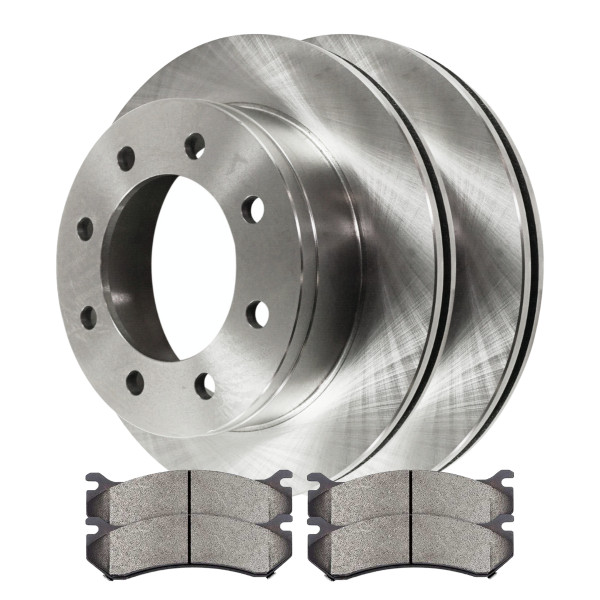 [Set] 2 Brake Rotors & 1 Set Performance Ceramic Brake Pads - Part # PCDR6505965059785