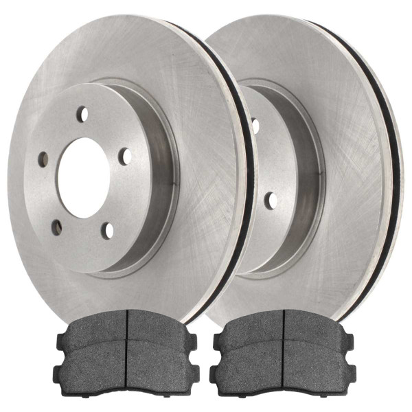 [Set] 2 Brake Rotors & 1 Set Performance Ceramic Brake Pads - Part # PCDR6508265082913