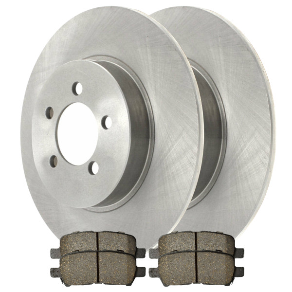 Rear Performance Brake Pad and Rotor Bundle - Part # PCDR6508765087999