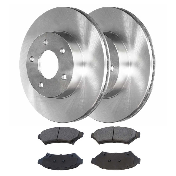 [Set] 2 Brake Rotors & 1 Set Performance Ceramic Brake Pads - Part # PCDR65089650891075