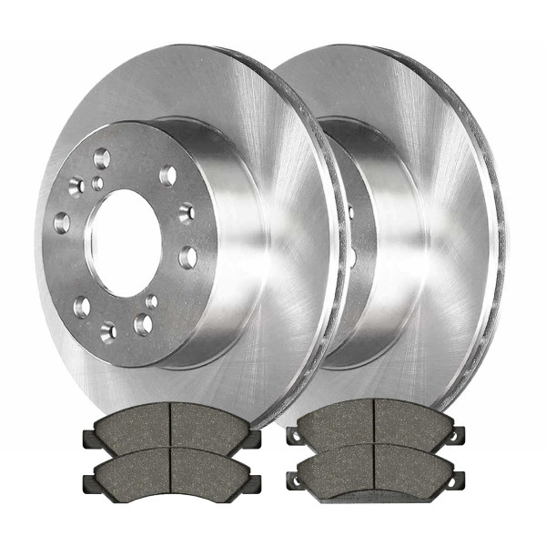 [Set] 2 Brake Rotors & 1 Set Performance Ceramic Brake Pads - Part # PCDR65099650991092
