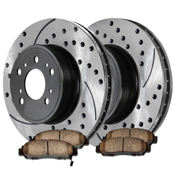 Front Performance Ceramic Brake Pad and Performance Rotor Bundle 11.8 Inch Rotor Diameter - Part # PERF41277787