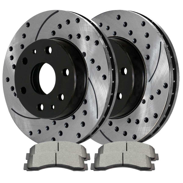 Front Performance Ceramic Brake Pad and Performance Rotor Bundle 6 Stud - Part # PERF641551414