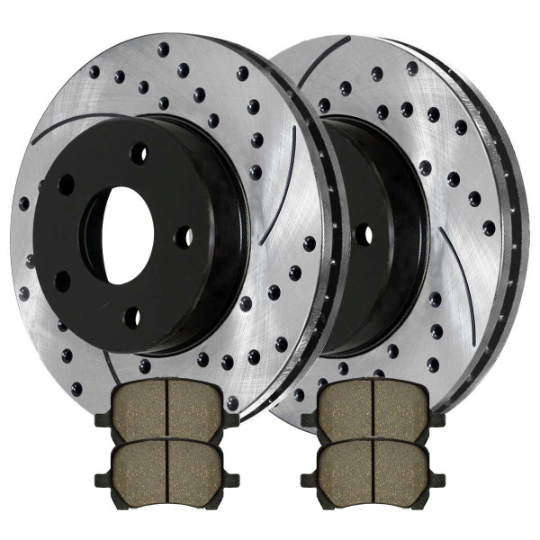 Front Performance Ceramic Brake Pad and Performance Rotor Bundle 296mm Rotor Diameter - Part # PERF650951160