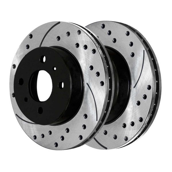 Front Performance Drilled and Slotted Brake Rotor Pair - Part # PR41058LR