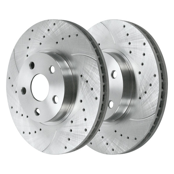 Front Performance Brake Rotor Pair Silver 10 7/8 Inch Diameter Solid - Part # PR41061DSZPR