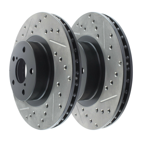 Front Performance Drilled and Slotted Brake Rotor Pair 277mm Rotor Diameter - Part # PR41061LR