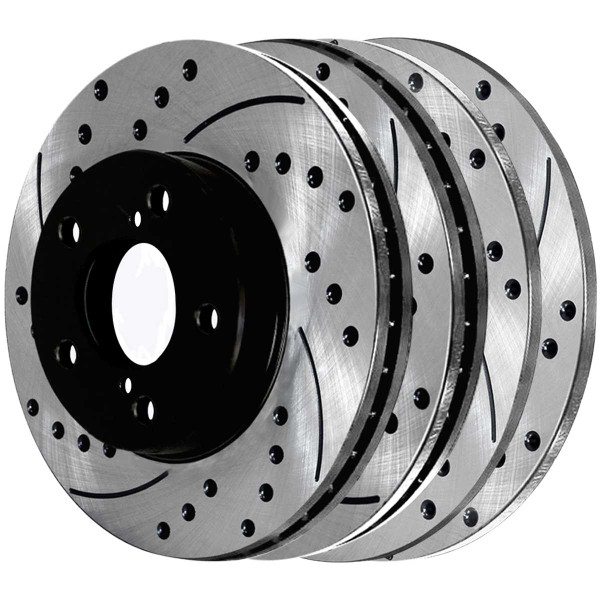 Front and Rear Performance Brake Rotor Bundle - Part # PR41061PR41045