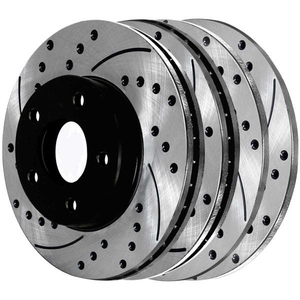 Front and Rear Performance Brake Rotor Bundle - Part # PR41149PR6401