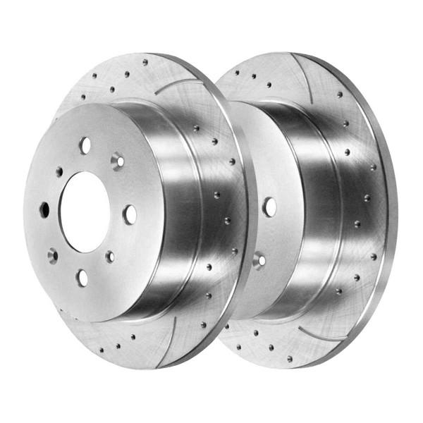 Rear Performance Brake Rotor Pair Silver - Part # PR41151DSZPR